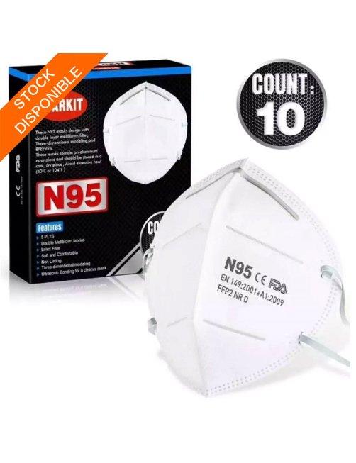Respirador o Mascarilla N95 Starkit, CoronaVirus, 10 pcs por caja