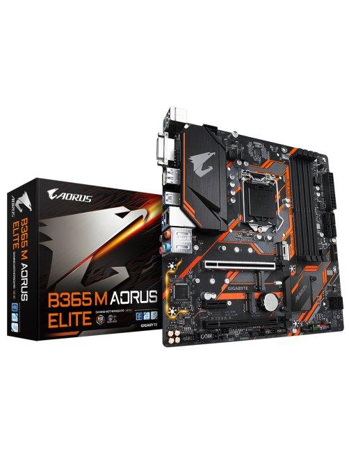 Gigabyte B365 M AORUS ELITE - 1.0 - placa base - micro ATX - LGA1151 Socket - B365 - USB 3.1 Gen 1,  B365MAORUSELITE