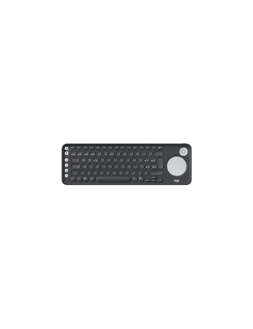 Logitech - Keyboard - Wireless - Spanish - Bluetooth - Black - intergrated touchpad - Imagen 1