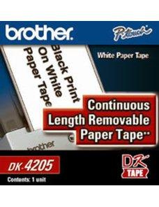 Brother DK4205 Removable - Papel - negro sobre blanco - Rollo (6,2 cm x 30,4 m) 1 bobina(s) cinta continua - para Brother QL-105