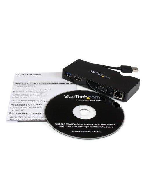 Replicador de Puertos USB 3 HDMI VGA Red - Imagen 3