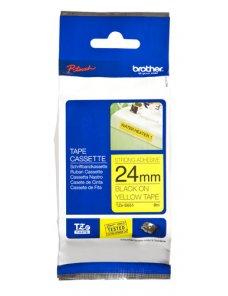 Brother TZe-S651 - Adhesivo extrarresistente - negro sobre amarillo - rollo (2,4 cm x 8 m) 1 bobina(s) tipo laminado - para Brot
