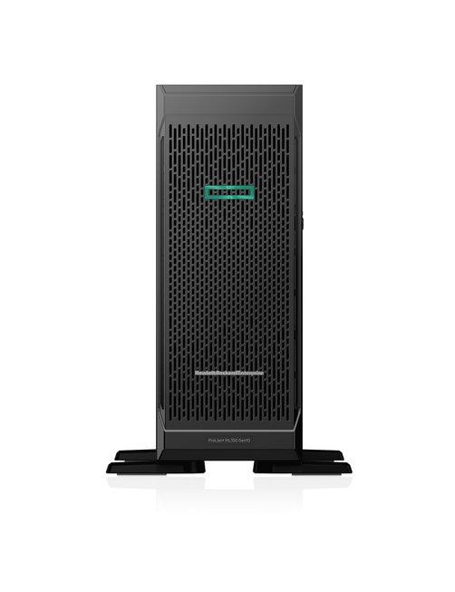 HPE ProLiant ML350 Gen10 Base - Servidor - torre - 4U - 2 vías - 1 x Xeon Silver 4210 / 2.2 GHz - RAM 16 GB - SAS - hot-swap 2.5