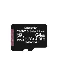 Kingston Canvas Select Plus - Tarjeta de memoria flash (adaptador microSDXC a SD Incluido) - 64 GB - A1 / Video Class V10 / UHS