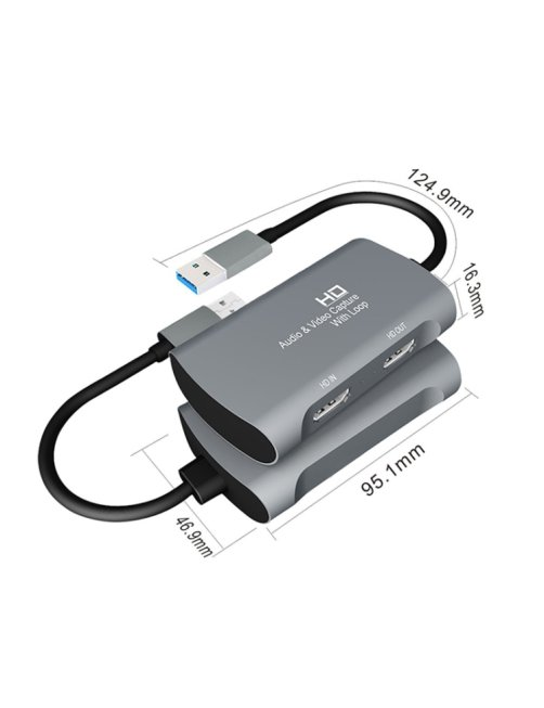 Capturadora de Video Z31 HDMI A HDMI + Audio + USB 2.0