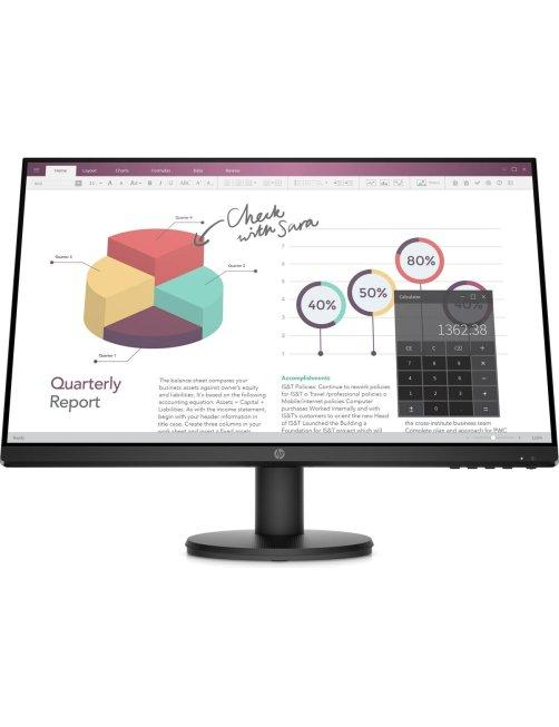 "HP P24v G4 - LED-backlit LCD monitor - 23.8"" - 1920 x 1080 - VGA HDMI 9TT78AA#ABA"