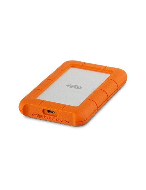 LaCie Rugged USB-C - Disco duro - 4 TB - externo (portátil) - USB 3.1 Gen 1 (USB-C conector) - naranja - Imagen 1