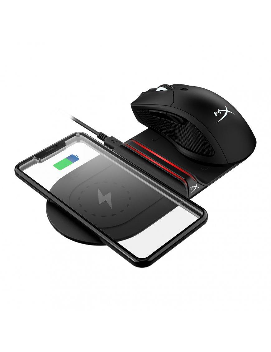 Cargador Inalámbrico Qi HyperX ChargePlay Base™, Carga Rápidamente 2 Dispositivos1 Simultáneamente